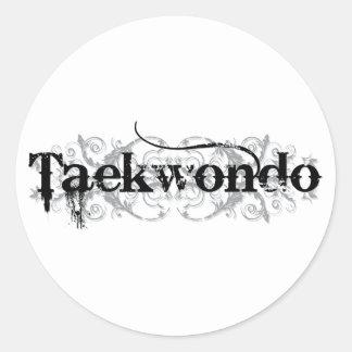 Taekwondo (bc) classic round sticker