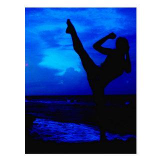 Taekwondo Beach Style Postcard