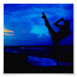 Taekwondo Beach Style Poster