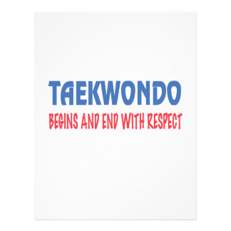 Taekwondo Begins and End with Respect Letterhead
