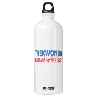 Taekwondo Begins and End with Respect SIGG Traveler 1.0L Water Bottle