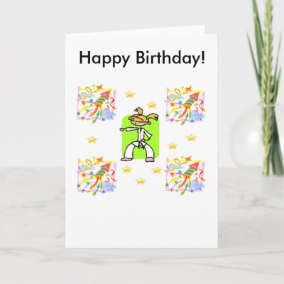 This birthday card is for girls who love Taekwondo
