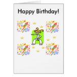 Taekwondo Birthday Card - Girls