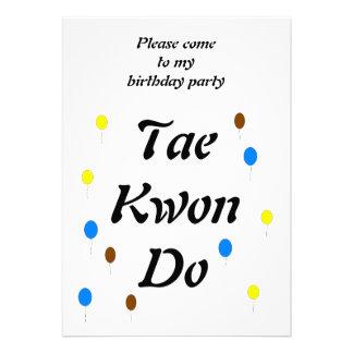 Taekwondo Birthday Card Personalized Invitation