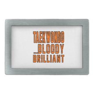 Taekwondo Bloody brilliant Belt Buckle