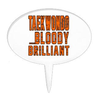 Taekwondo Bloody brilliant Cake Toppers
