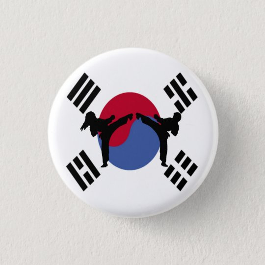 Taekwondo Boy and Girl Button