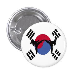 Taekwondo Boy and Girl Button