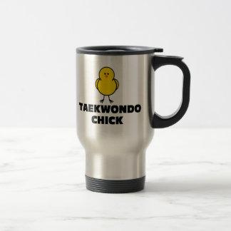 Taekwondo Chick 15 Oz Stainless Steel Travel Mug