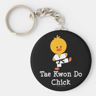 Taekwondo Chick Keychain