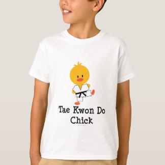 Taekwondo Chick Kids T shirt