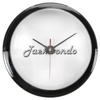 Taekwondo Classic Retro Design Aquarium Clocks