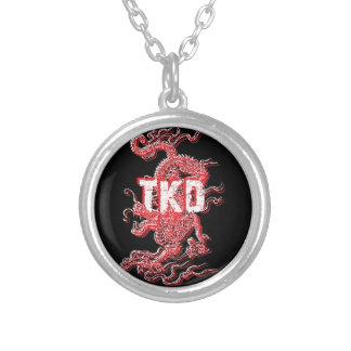 Taekwondo Dragon Silver Plated Necklace