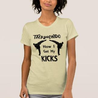 Taekwondo Fans Martial Arts How I Get My Kicks T-Shirt