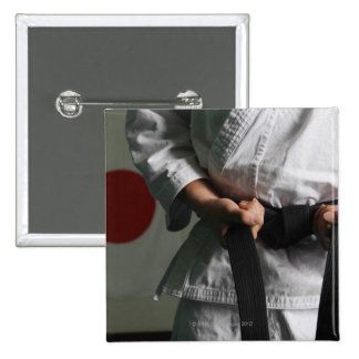 Taekwondo Fighter Tightening Belt 2 Inch Square Button