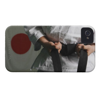 Taekwondo Fighter Tightening Belt iPhone 4 Cover