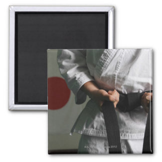 Taekwondo Fighter Tightening Belt Magnet