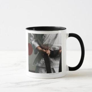 Taekwondo Fighter Tightening Belt Mug