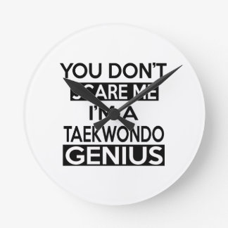 TAEKWONDO GENIUS DESIGNS ROUND WALLCLOCKS