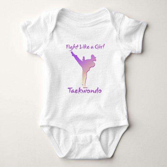 Taekwondo Girl Baby Bodysuit