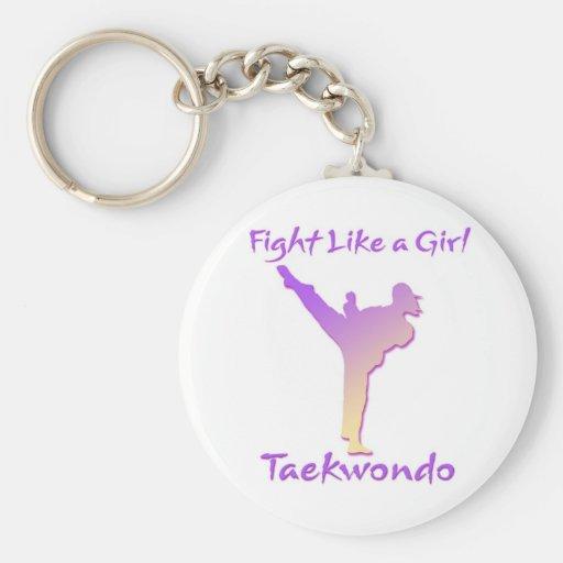 Taekwondo Girl Keychains