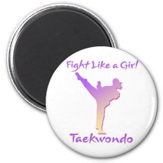 Taekwondo Girl Magnet