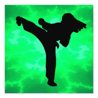 Taekwondo Girls Birthday Party Card