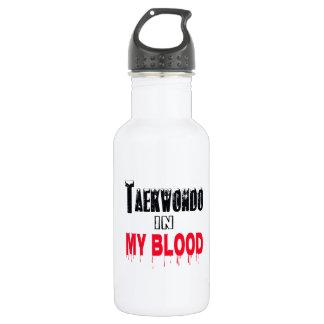 Taekwondo In My Blood 18oz Water Bottle
