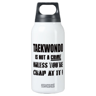 Taekwondo is not a crime 10 oz insulated SIGG thermos water bottle