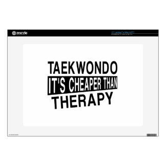 "TAEKWONDO IT IS CHEAPER THAN THERAPY 15"" LAPTOP DECAL"