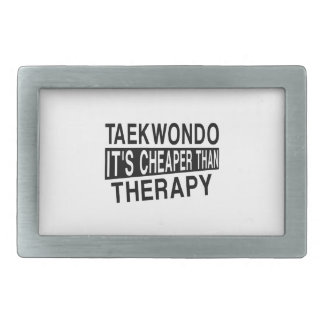 TAEKWONDO IT IS CHEAPER THAN THERAPY BELT BUCKLE