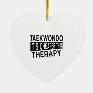 TAEKWONDO IT IS CHEAPER THAN THERAPY CERAMIC ORNAMENT