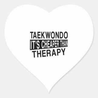 TAEKWONDO IT IS CHEAPER THAN THERAPY HEART STICKER