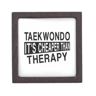 TAEKWONDO IT IS CHEAPER THAN THERAPY KEEPSAKE BOX