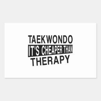 TAEKWONDO IT IS CHEAPER THAN THERAPY RECTANGULAR STICKER