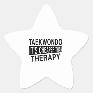 TAEKWONDO IT IS CHEAPER THAN THERAPY STAR STICKER