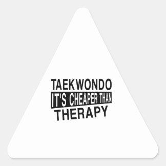 TAEKWONDO IT IS CHEAPER THAN THERAPY TRIANGLE STICKER