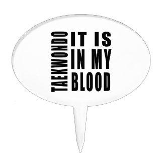 Taekwondo It Is In My Blood Cake Picks