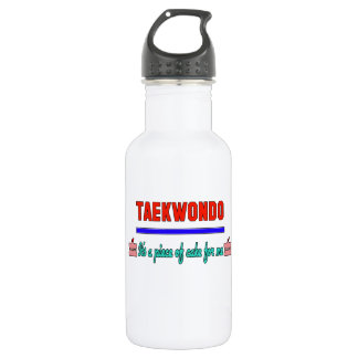 Taekwondo It's a piece of cake for me 18oz Water Bottle