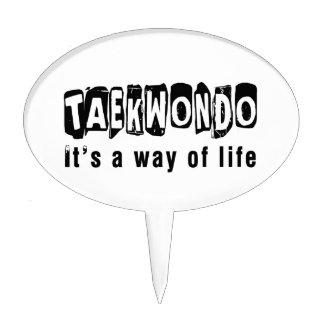 Taekwondo It's a way of life Cake Picks