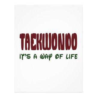 Taekwondo It's a way of life Customized Letterhead
