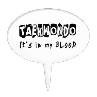 Taekwondo It's in my blood Cake Pick