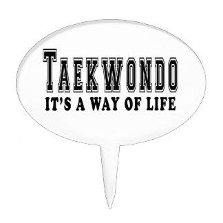 Taekwondo It's way of life Cake Picks