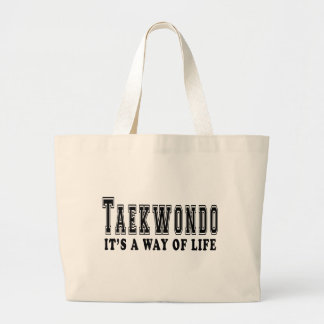 Taekwondo It's way of life Large Tote Bag