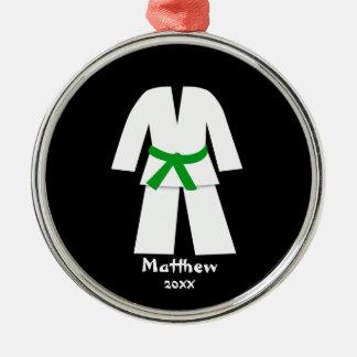 Taekwondo Karate Green Belt Personalized Metal Ornament