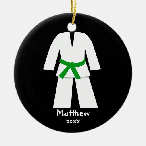 Taekwondo Karate Green Belt Personalized Ornament