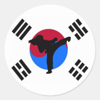 Taekwondo Kicker Stickers