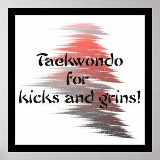 Taekwondo Kicks and Grins Poster Print
