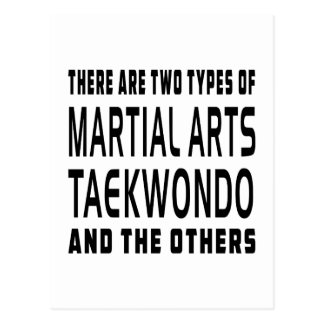 Taekwondo Martial Arts Designs Postcard