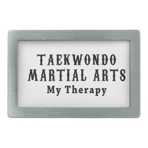Taekwondo Martial Arts My Therapy Rectangular Belt Buckle